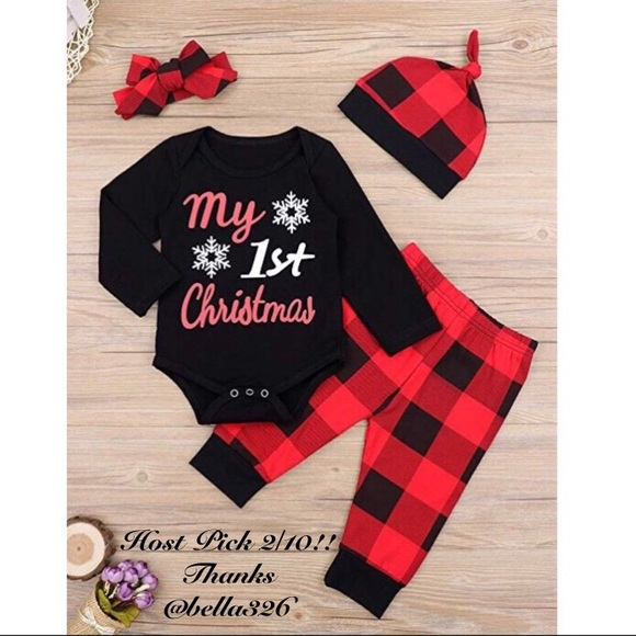 My First Christmas.Hp Nwt My First Christmas Outfit Nwt